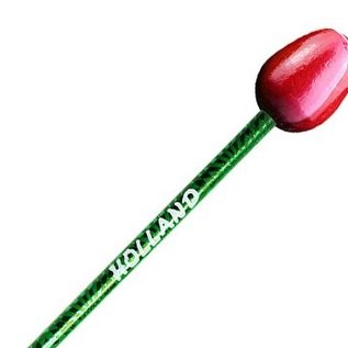 pencil tulip red / white
