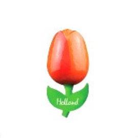 houten tulp op een magneet oranje