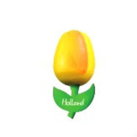 wooden tulip yellow on a magnet