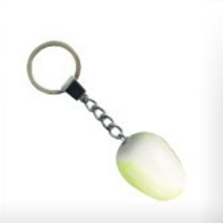 White wooden tulip as a keyring