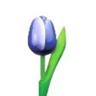 houten tulpen in de kleur blauw 20cm