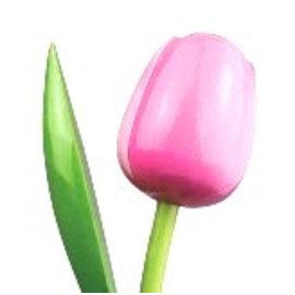 houten tulpen in de kleur rose / wit