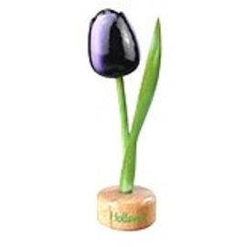 houten tulp op een voet in de kleur donker paars