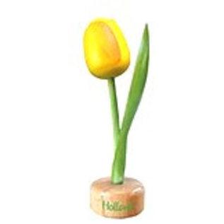 Holz Tulpe zu Fuß in gelb