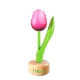 Holz Tulpe zu Fuß in Rosa