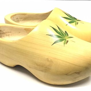 Weed wooden shoes