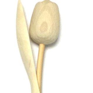 houten tulpen blank geschuurd