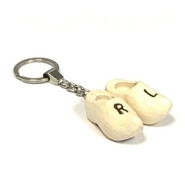 Schlüsselanhänger mit 2 Clogs 4 cm mit Gravur