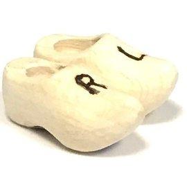 Pair souvenir clog with engraving 14 cm