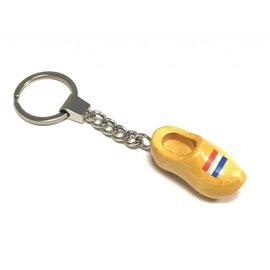 sleutelhanger met een klompje met afbeelding vlag