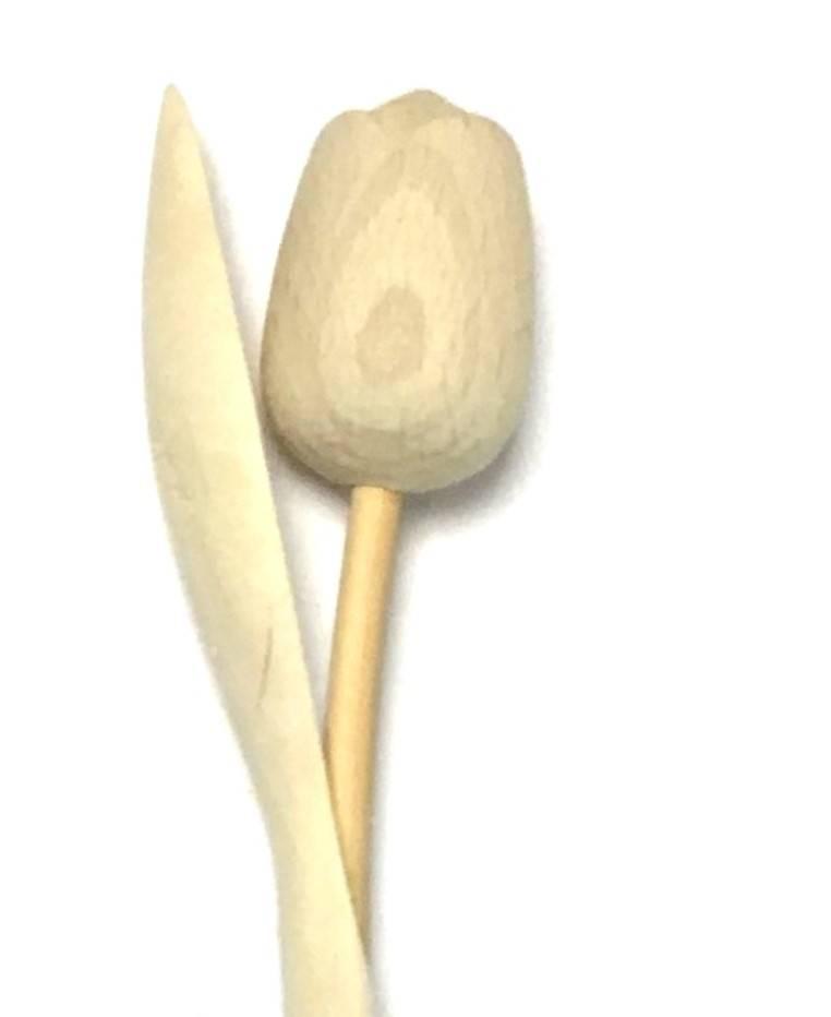 Knutselen met houten tulpen