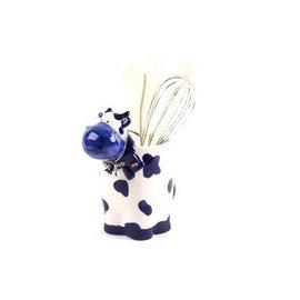 Delftsblauwe keukenset koe