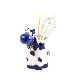 delft blue kitchen set cow