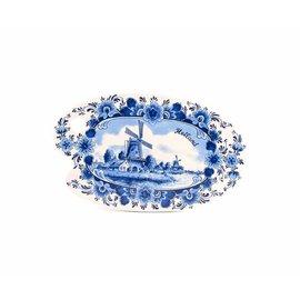 Delftsblauwe kaasplank  Holland