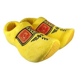 Clog slippers yellow with farmers motif