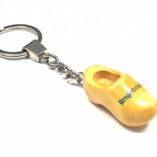 sleutelhanger klompje met LOGO