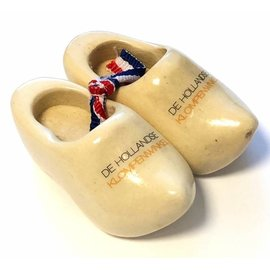 Souvenir clogs with text 6 cm