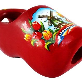 Tie Clog in red
