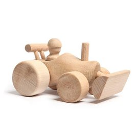 Wooden toy clog executed as a shovel