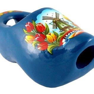 Blau Krawatte Clog 8cm