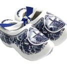 Souvenirs holzschuhe Delfter Blau 10cm