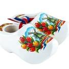 souvenirs klompjes 6 cm witte tulp