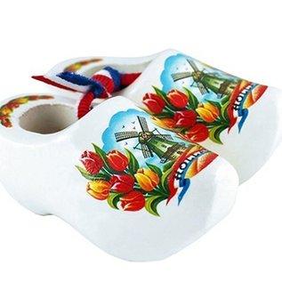 Witte souvenirs klompjes 6 cm