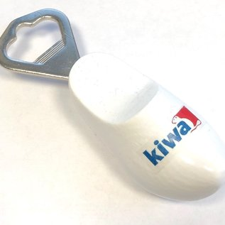 Bottle opener clog with logo