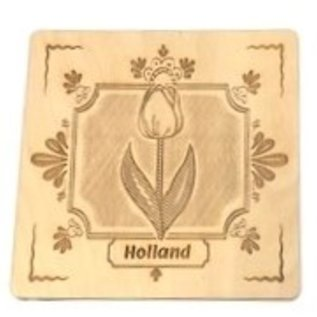 wooden coasters tulips