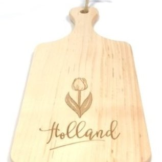 cutting board with a tulip image