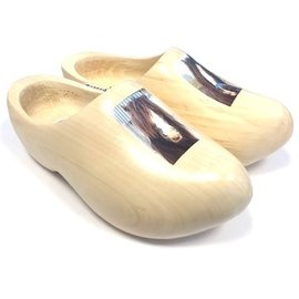 wooden shoes with horse