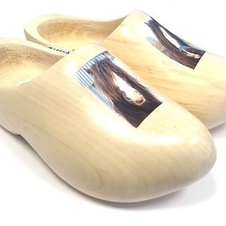 wooden shoes with your own horse