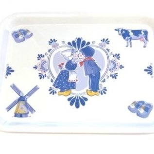 Tray with delftware