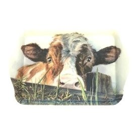 Tray with cow