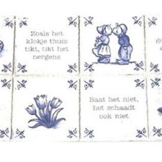 Aluminiumplatte mit niederländischen Sprichwörtern