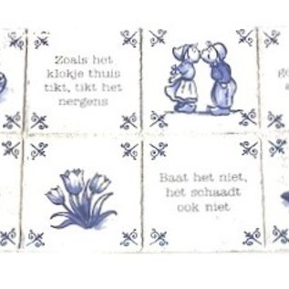 Aluminum plate with Dutch Proverbs