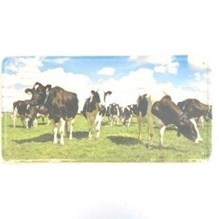 Aluminiumschild mit einem Bild von Kühen