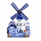 Musikmühle Farmer's Delft Blue Holland 16 cm