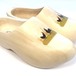 Wooden shoes with photo