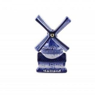 magneet keramiek delftsblauw met Hollandse Molen