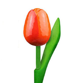 Tulpe aus Holz mit Text 34 cm  in verschiedenen Farben