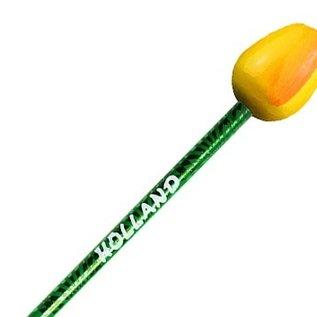 hölzerne Bleistift Tulpe mit Text in vielen Farben