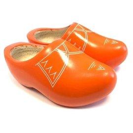 Orange children's clogs with stripes