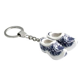 Keychain clogs delft blue