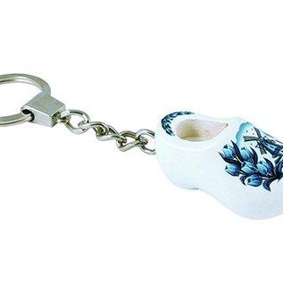 sleutelhanger klompje 4 cm Delftsblauw
