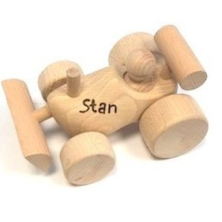 Spielzeugverschluß als Schaufel mit Gravur ausgeführt