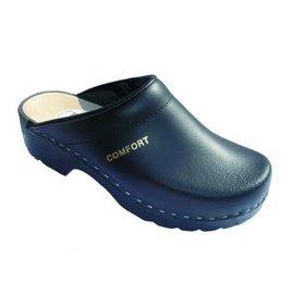 simson Clog in black with open heel