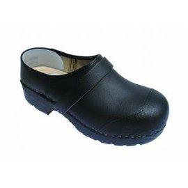 simson Clog in black Secure S3 - toecap