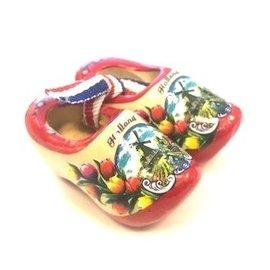 souvenir clogs 5 cm red sole