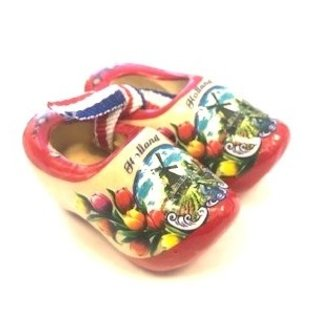 souvenir clogs 5 cm red sole